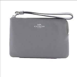 COACH | Gray Leather Wristlet NWT